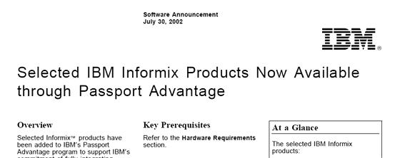 Cursor Service Distribution Informix Announcements