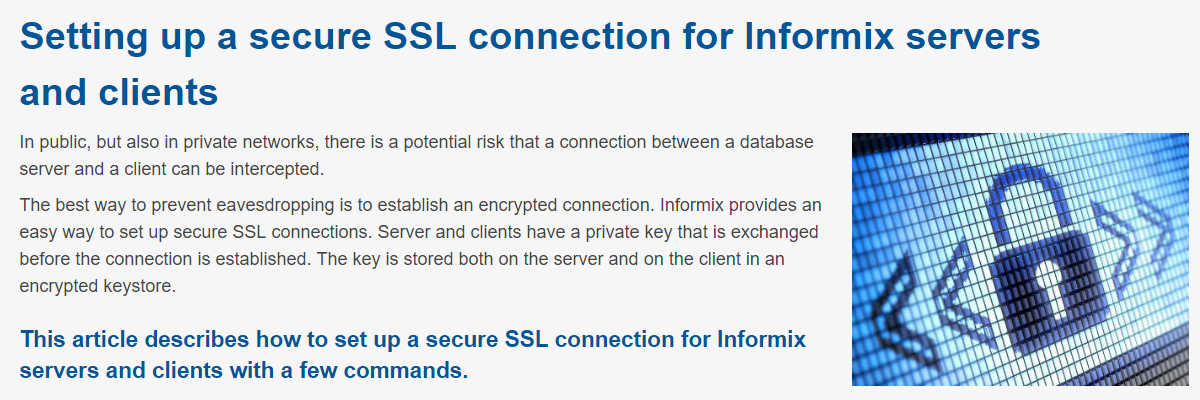 Informix SSL Connection (15.05.2019)