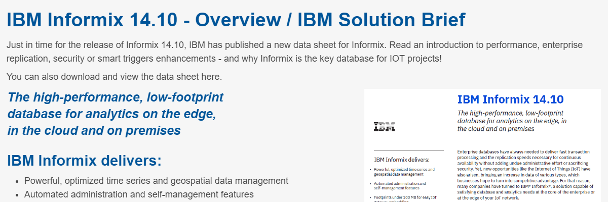 IBM Db2 news - CURSOR Service Distribution