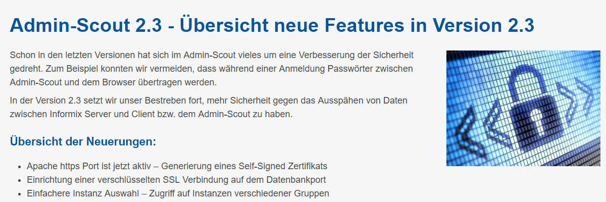 Admin-Scout 2.3 - Übersicht neue Features in Version 2.3 (24.05.2019)